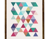 Triangles 5. Scandinavian print Geometric art print Mid century geometric art triangles print geometric print triangles poster. LD10001