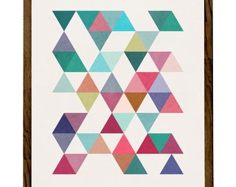 Triangles 5. Scandinavian print Geometric art print Mid century geometric art triangles print geometric print triangles poster. LD10001