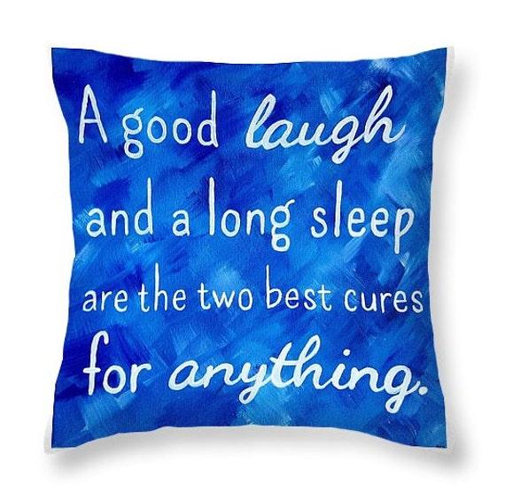 Inspirational Quote Pillow Royal Blue Decor Blue Throw