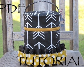 PDF Pattern for Essential Oil Diffuser Case/ PDF Tutorial for Essential Oil Diffuser Bag