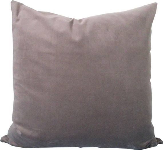 Throw Pillows For Taupe Sofa : Decorative Pillow Cover-Velvet Taupe-Gray-Accent by KLineDeco