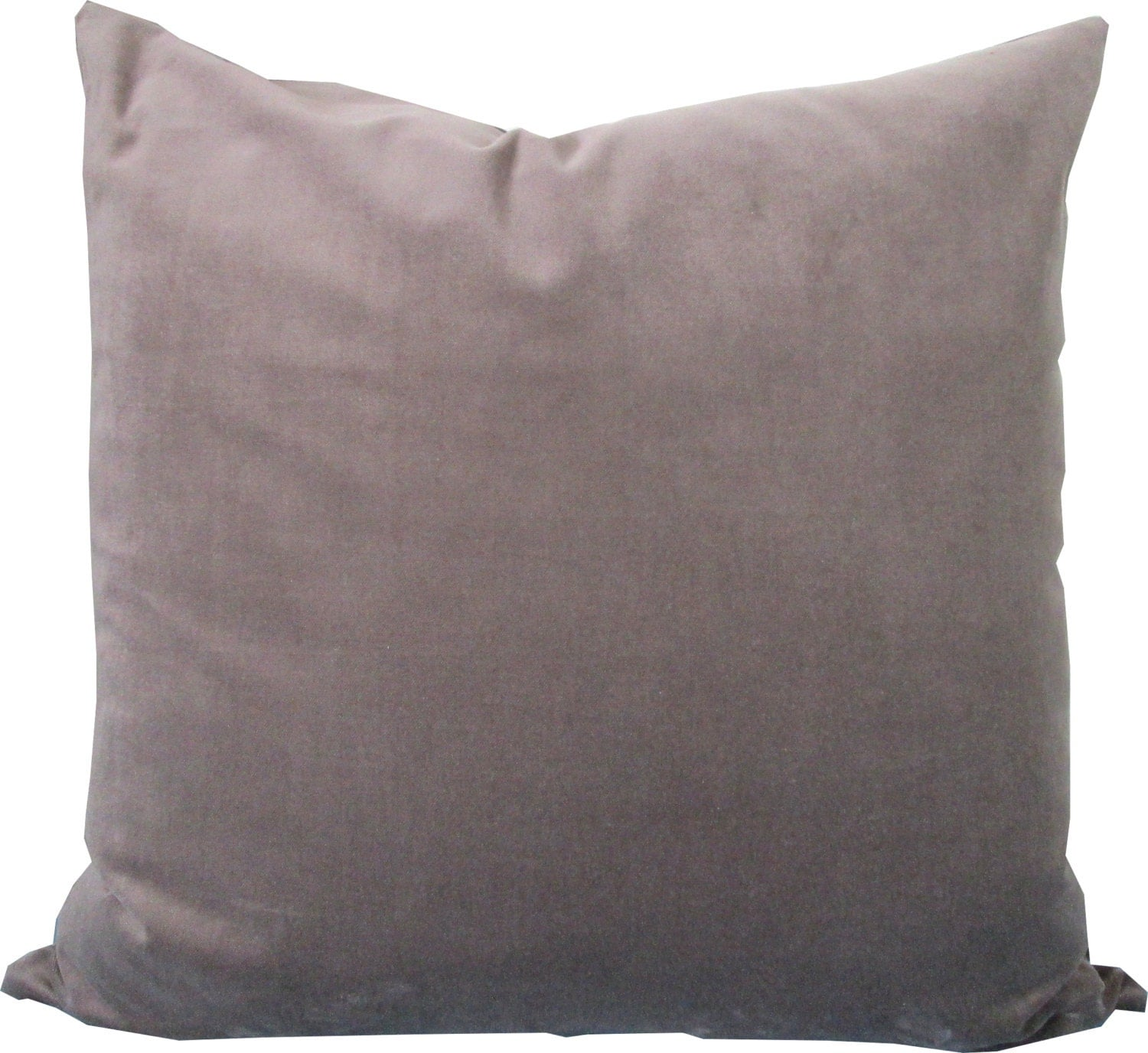Decorative Pillow Cover-Velvet Taupe-Gray-Accent by KLineDeco