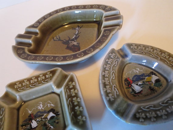 Vintage Wade porcelain ashtrays