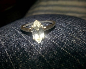 1 ct Marquise Moissanite Ring