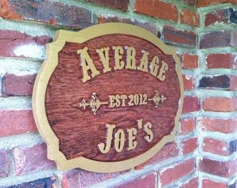 Wooden Tavern / Pub Sign - Customized Carved Oak Tavern /pub /Bar Sign