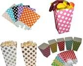 12 x Polka Dot Mini Popcorn Boxes Wedding Party Favour Lolly Box, FREE POSTAGE Australia Wide