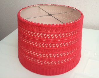 Floor Lamp Shade - Knitted in Coral