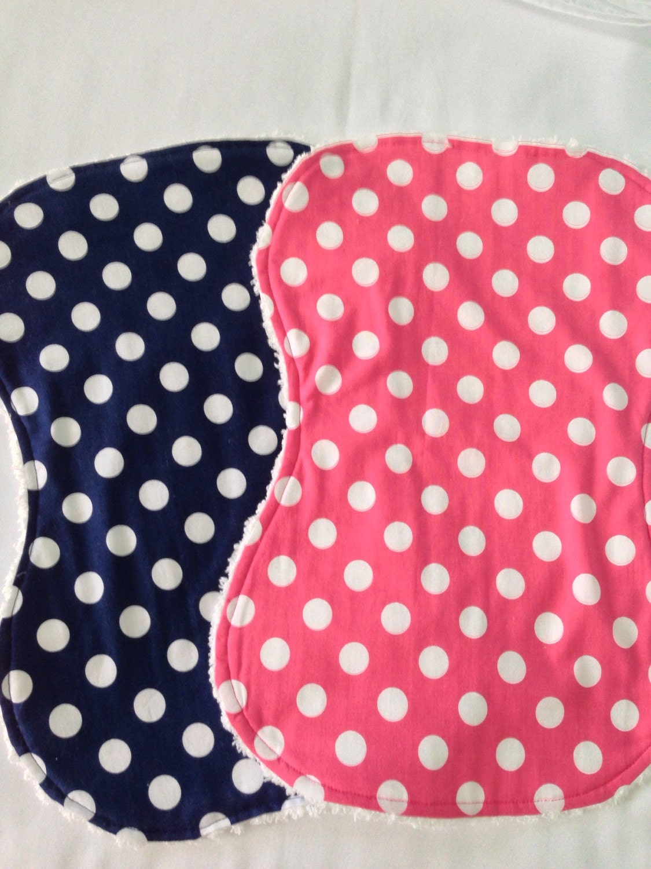 Baby Girl Burp Cloth Set Chenille and Cotton Burp Cloths