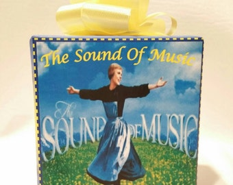 The Sound of Music music box wrapped as a gift