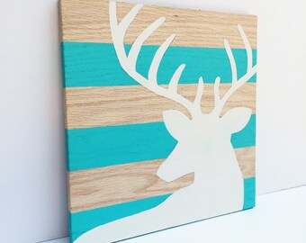 Deer Wood Sign - Rustic Home Decor - Wood Wall Art - Rustic Cabin Decor - Deer Art - Deer Wall Art - Wall Art for Living Room - Wooden Sign