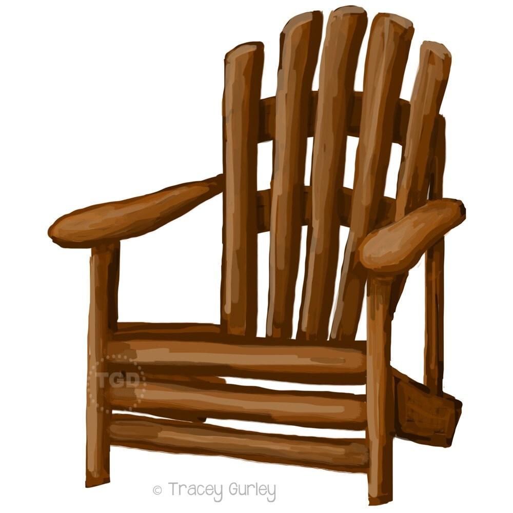 Royalty-Free (RF) Adirondack Chair Clipart, Illustrations ...
