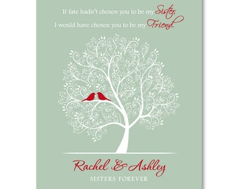 SISTER GIFT My Sister My Friend Personalized Sister Gift Tree