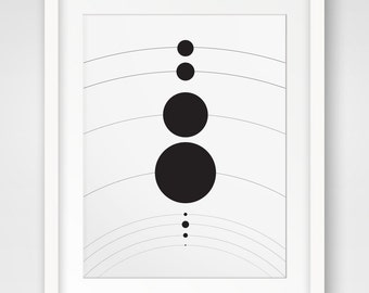 Solar System, Planet Art, Kids Wall Art, Solar System Print, Planets Print, Children Art, Solar System Wall Art, Printable Art, Universe