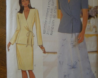 Butterick 6000, UNCUT sewing pattern, Misses' top and skirt, size 14-18, craft supplies