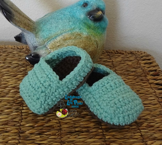 Cotton Crochet Baby Shoes Pattern : Baby Shoes Handmade Cotton Crochet by LadybugsnLilyPads on ...