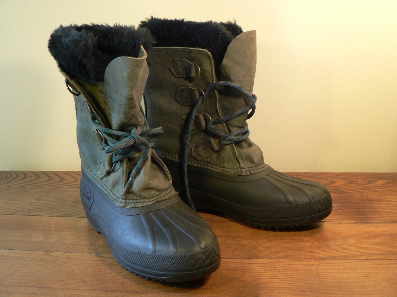 vintage sorel boot size 6 ankle boot apres ski boot winter. Black Bedroom Furniture Sets. Home Design Ideas