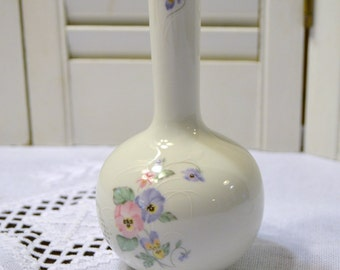 Vintage Russ Vase Purple Pink Flowers Violets 4952 Japan Panchosporch