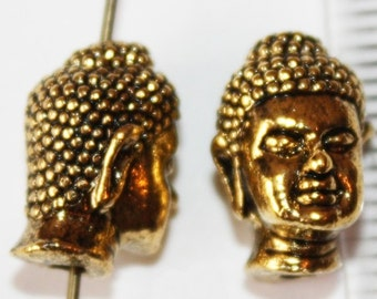 4 pcs Antique Gold Buddha Spacers 13 mm x 9 mm, Lead, Nickel & Cadmium Free Jewelry Findings, metal findings
