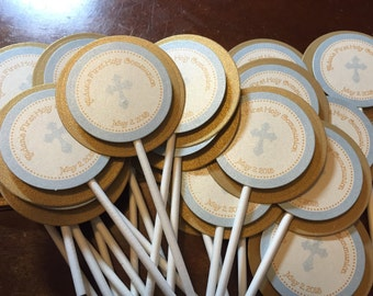 Baptism / First Communion Cupcake toppers