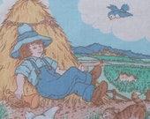 Little Boy Blue Nursery Fabric Panel