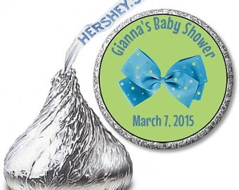 Baby Boy Hershey Kiss Labels, Baby Shower Hershey Kiss Labels, Polka Dot Baby Boy Hershey Kiss Labels