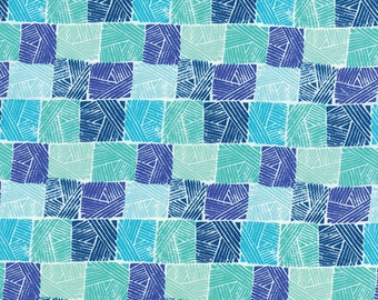One Yard Horizon - Field in Ocean Blue - Cotton Quilt Fabric - designed by Kate Spain for Moda Fabrics - 27196-18 (W2314)