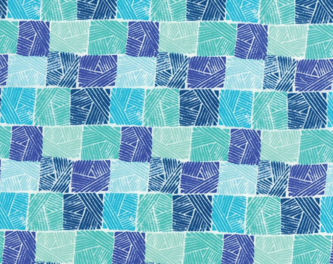 Half Yard Horizon - Field in Ocean Blue - Cotton Quilt Fabric - designed by Kate Spain for Moda Fabrics - 27196-18 (W2314)