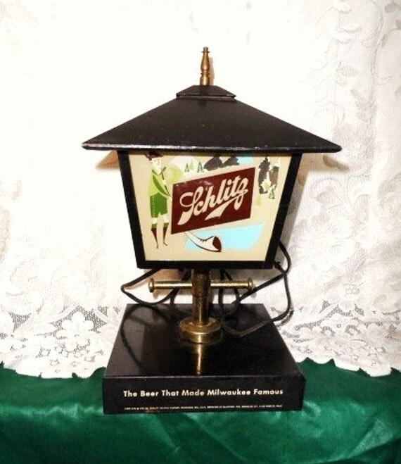 1958 SCHLITZ Beer Sign Light-Back Bar Display Lamp-Schlitz