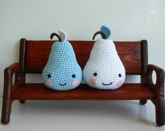 Crochet Pear - Nursery Decor - Babies Nursery Accessory - Handmade Pear - Crochet Fruit - Babies Accessory