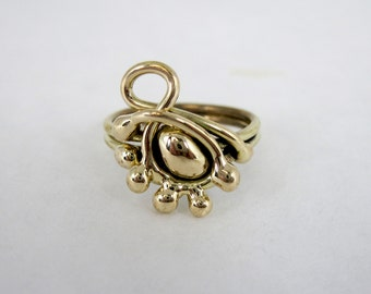 Freeform Handmade Bronze Ring (one of a kind)   BR018