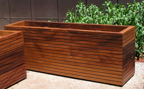 modern mahogany planter boxes free shipping by