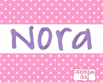 "Instant Download Nora Embroidery Font 1"" 2"" 3"""