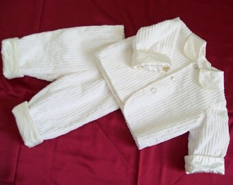 Complete 2-piece ivory christening