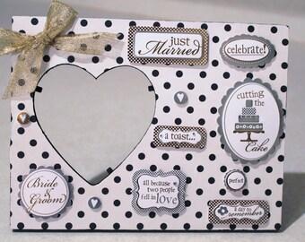 Wedding/ Black /White /Polka Dot /Marriage  /Picture frame