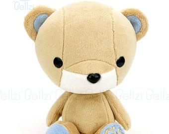 """Bellzi® Cute Brown """"Blue """"Contrast Teddy Bear Toy  Plush Doll - Teddi"""