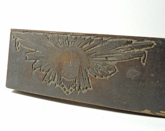 Jesse S. C. Heiss Handcarved Printing Block for Wawa c. 1900