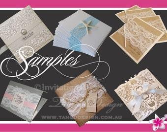 Wedding Invitation suite. Rustic invitation set. Beach invitations. Wedding invites online  handmade. Invitations UK USA. Birthday SAMPLES