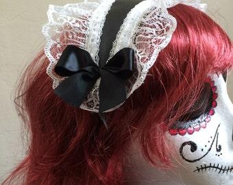 gothic lolita cosplay maid headband