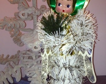60's 70's Big Eyed Xmas Angel