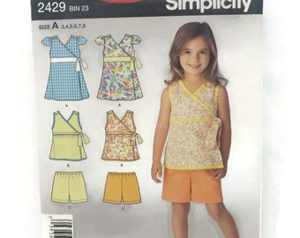 Its So Easy Its Simplicity 2429 Girls Top and Shorts UNCUT