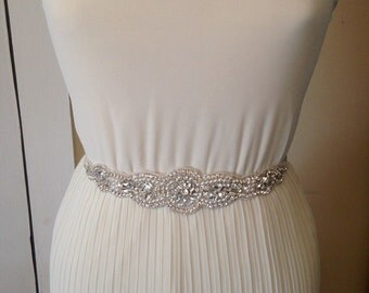 Bridal belt wedding belt bridal sash wedding sash crystal sash crystal belt wedding dress rhinestone sash satin ribbon belt  appliqué