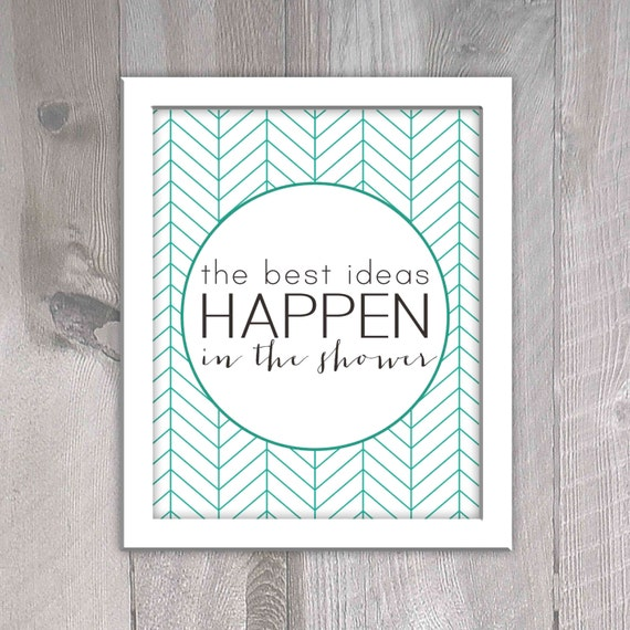 Aqua printable bathroom decor the best ideas happen in the for Vintage bathroom printables