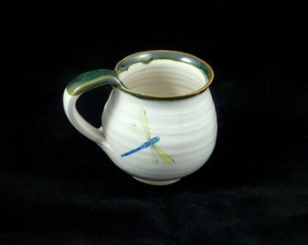 Mug with Dragonfly and Trim