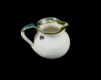 Milk Jug with Single Bumble Bee and Trim