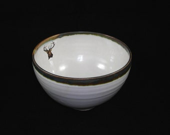 Porridge Bowl with Single Stag