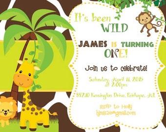 Wild Jungle Baby Invitation