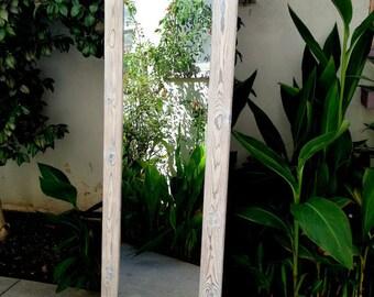 wood mirror, large mirror