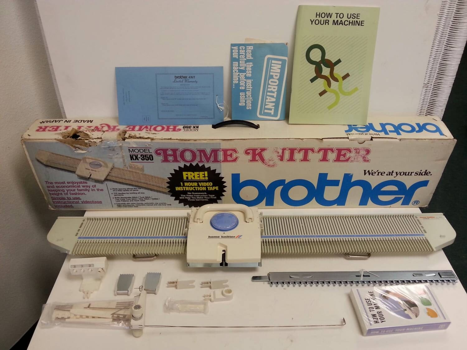 Free Shipping Brother Home Knitter KX-350 Knitting Machine