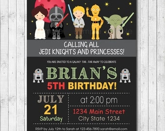 Star Wars Invitation, Star wars Invite, Star wars birthday, Star wars Party, Jedi Birthday, Jedi Party, Digital Printable Invitation