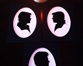 Supernatural Silhouette print set
